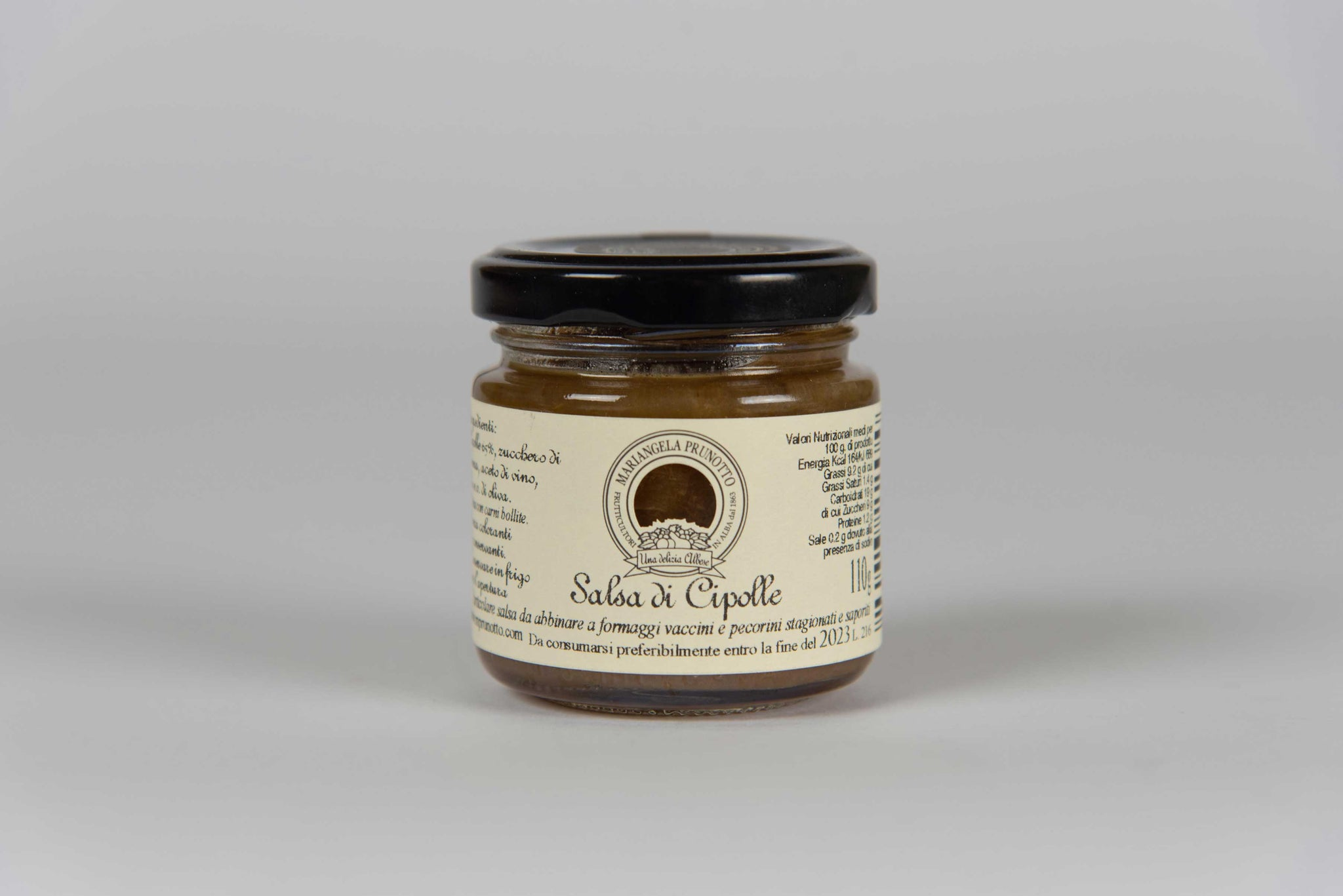 Onion Sauce 110 g  - Mariangela Prunotto - The Italian Club