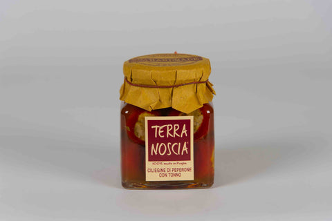 Cherries Pepper with Tuna 270 gr - Terra Noscia - The Italian Club