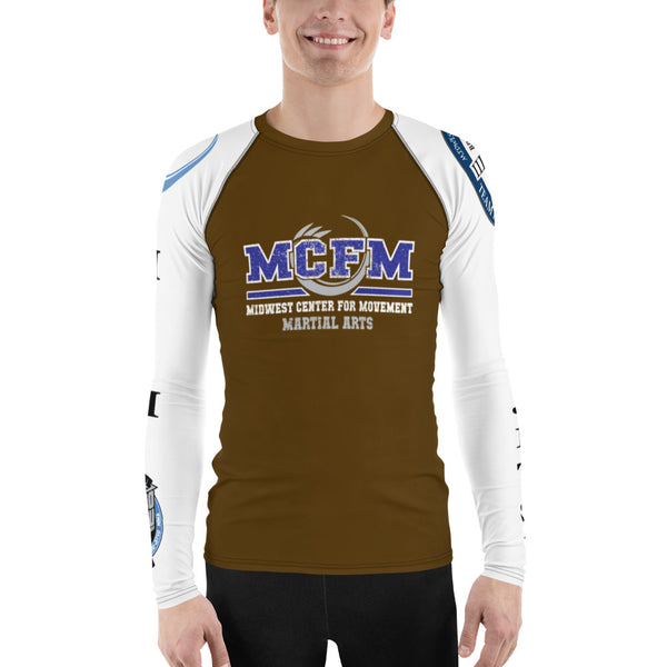 Men's Brown MCFM Rash Guard