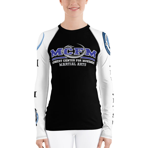 Women's Black MCFM Rash Guard