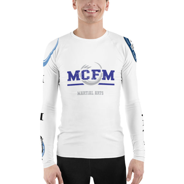 Men's White MCFM Rash Guard