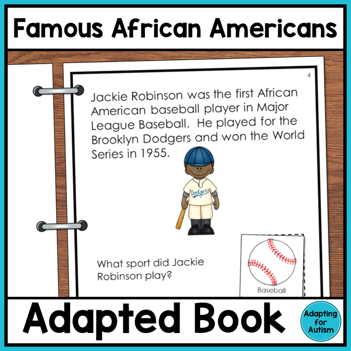Black History Month Adapted Book