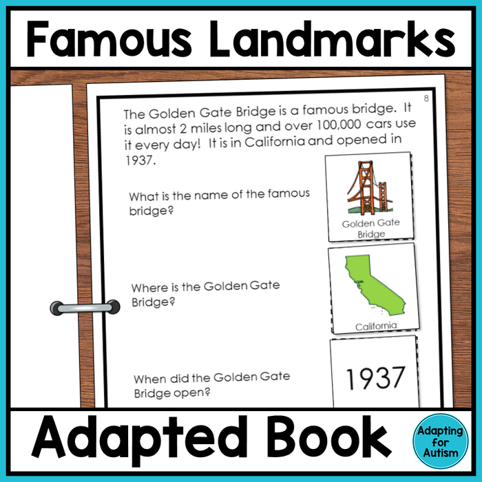 Famous US Landmarks Adapted Book
