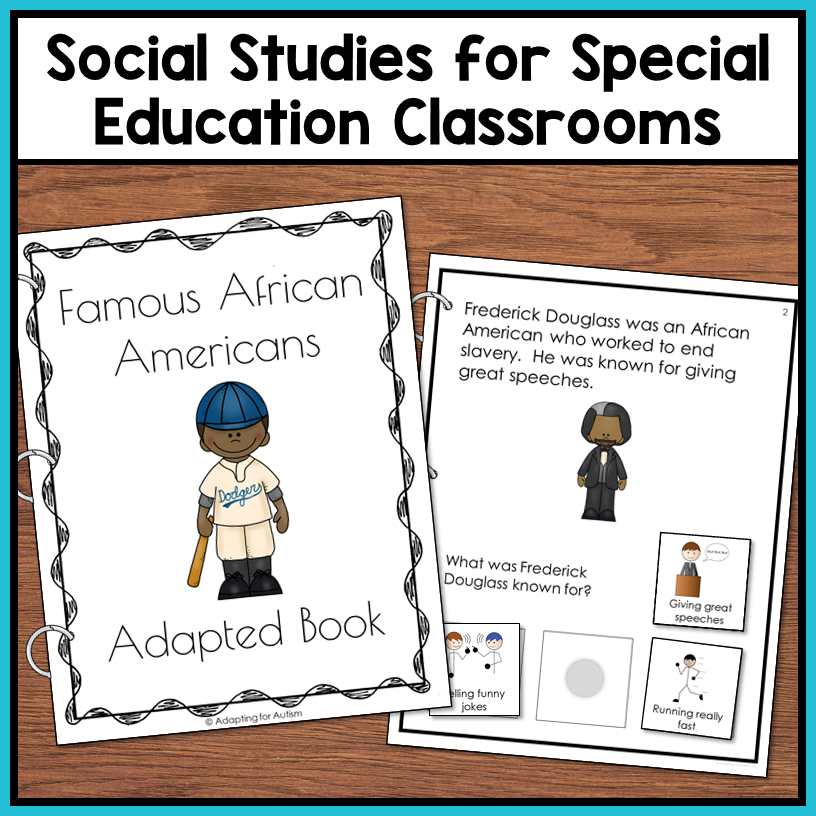 Black History Month Adapted Book – Autism Work Tasks