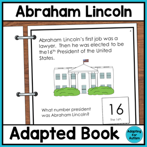 Abraham Lincoln Adapted Book