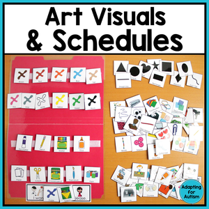 Art Visual Supports and Schedules