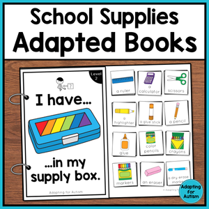 Back to School Adapted Books