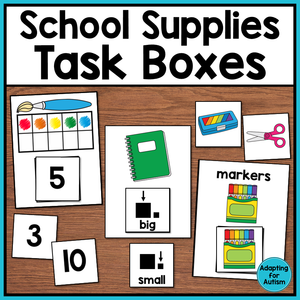 Back to School Task Boxes