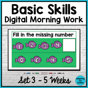 Basic Skills Digital Morning Work - Set 3