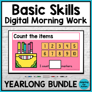 Basic Skills Digital Morning Work - Yearlong BUNDLE