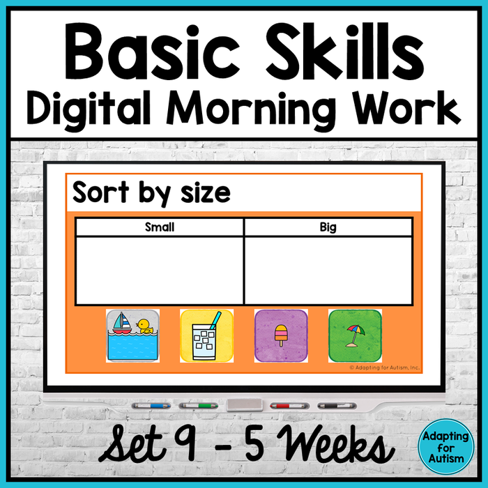 Basic Skills Digital Morning Work - Set 9