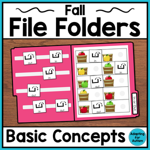 Fall File Folder Activities – Basic Concepts