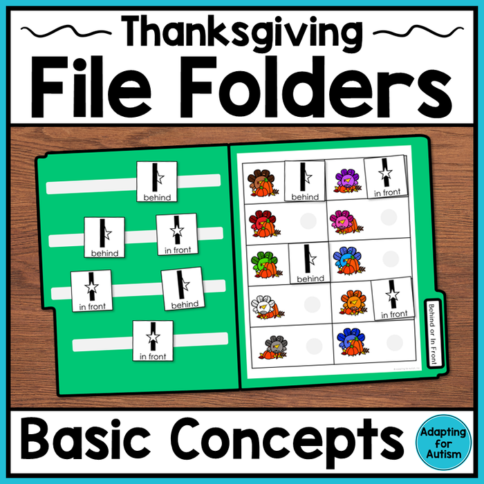 Thanksgiving File Folder Activities - Basic Concepts