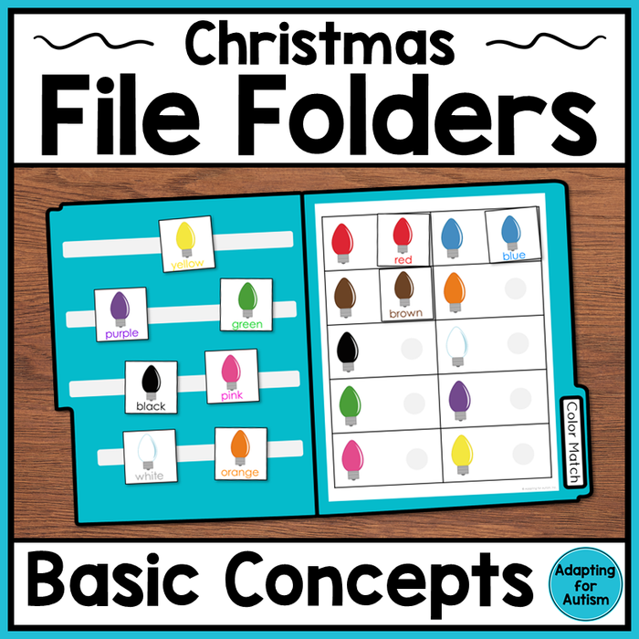 Christmas File Folder Activities - Basic Concepts