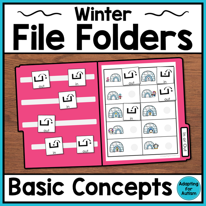 Winter File Folder Activities – Basic Concepts