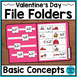 Valentine's Day File Folder Activities – Basic Concepts