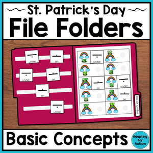 St. Patrick's Day File Folder Activities – Basic Concepts