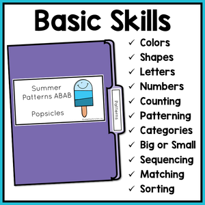 Basic Skills File Folder Activities BUNDLE