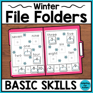 Winter Basic Skills File Folder Activities