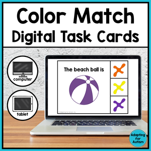 Color Matching Digital Task Cards