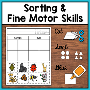 Category Sorting Cut and Paste Worksheets