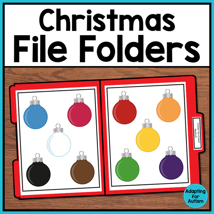 FREE Christmas File Folder Activities