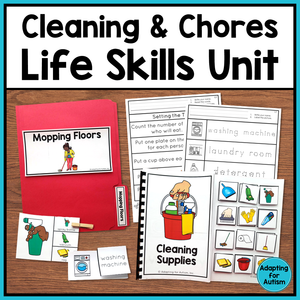 Life Skills Activities for Special Education - Cleaning and Household Chores