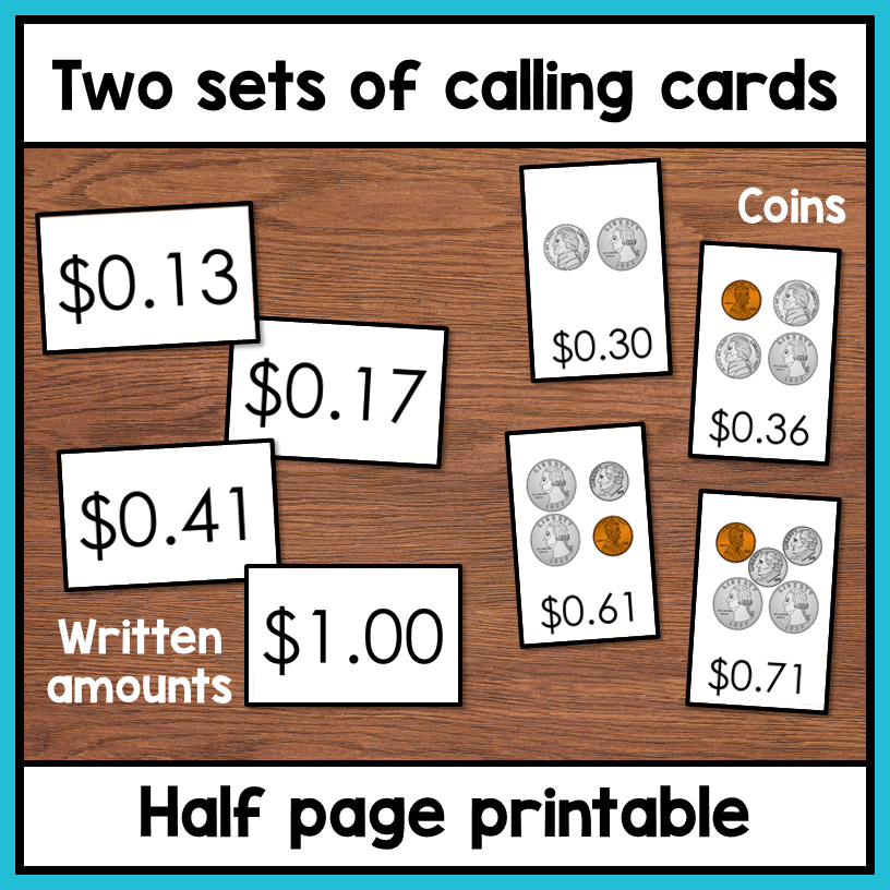 photo about Money Bingo Printable known as Economical BINGO Online games: Counting cash up towards $1.00