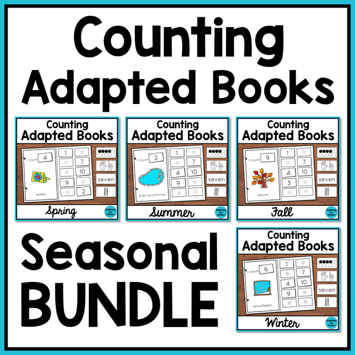 Seasonal Counting Adapted Books BUNDLE