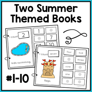 Summer Counting Adapted Books