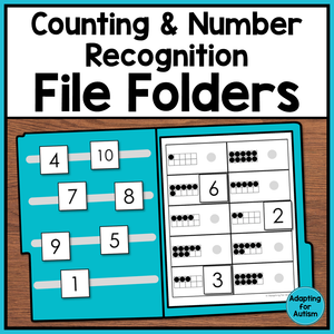 Number Recognition and Counting File Folder Activities
