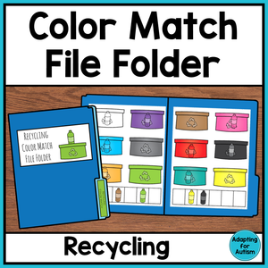 Free Earth Day File Folder Activity - Color Matching