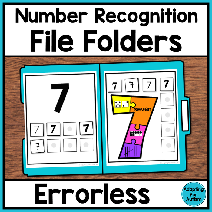 Errorless File Folders - Number Recognition (1-10)