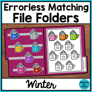 Errorless Winter File Folder Activities