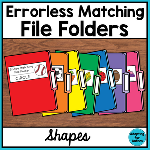Errorless Shape Matching File Folder Activities