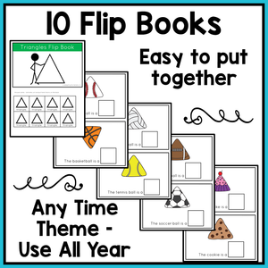 Errorless Shapes Flip Books