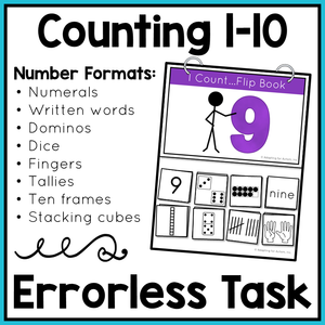 Errorless Counting Flip Books