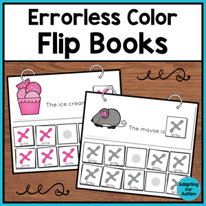 Errorless Color Matching Flip Books
