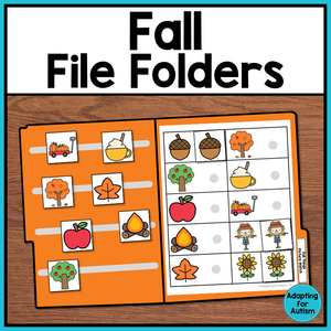 FREE Fall File Folder Activities