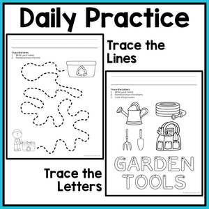 Earth Day Fine Motor Worksheets