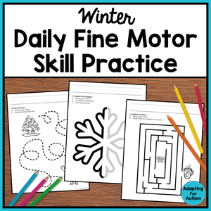 Winter Fine Motor Worksheets