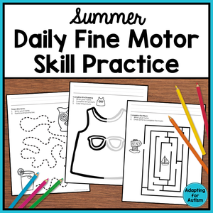 Summer Fine Motor Worksheets