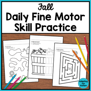 Fine Motor Worksheets Yearlong BUNDLE