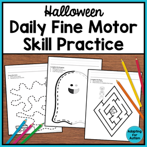 Halloween Fine Motor Worksheets