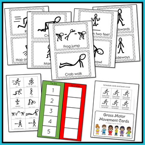 Gross Motor Movement Cards for Active Brain Breaks