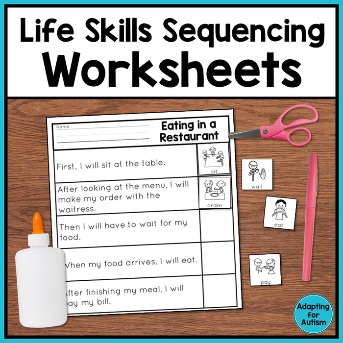 Life Skills Worksheets - Sequencing Activities