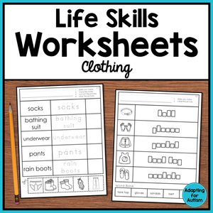 Life Skills Worksheets - Clothing Vocabulary