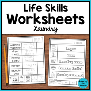 Life Skills Worksheets - Laundry Vocabulary