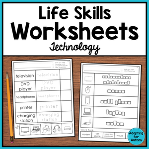 Life Skills Worksheets - Technology Vocabulary