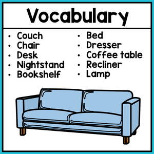 Life Skills Worksheets - Furniture Vocabulary